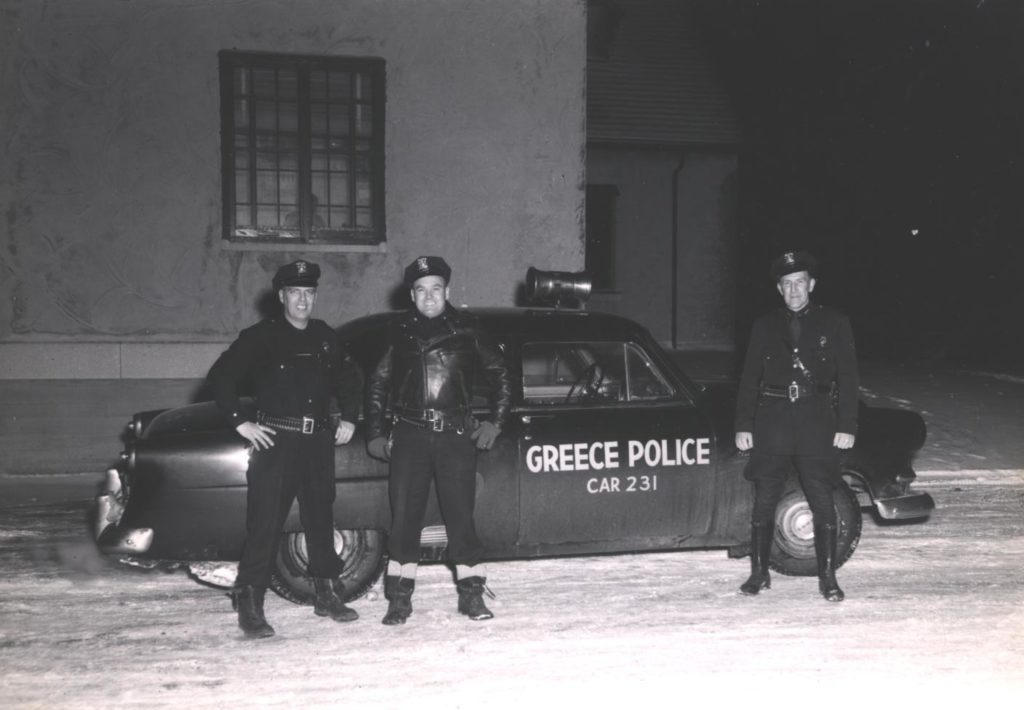 Greece Police Officers and Radio Patrol Car