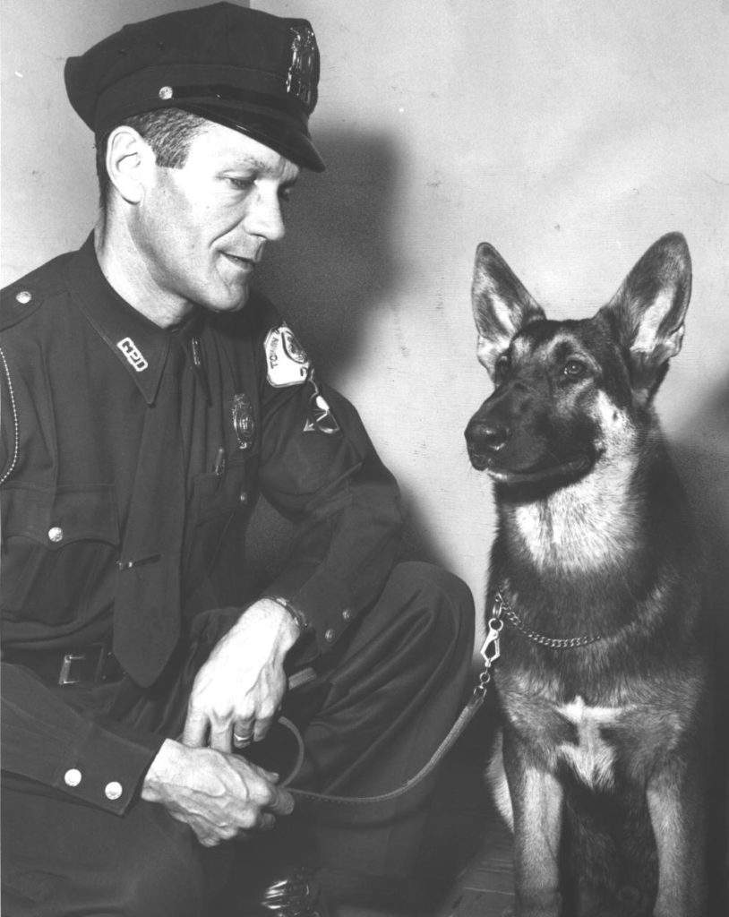 Officer Robert McKissock and K9 Officer BOE