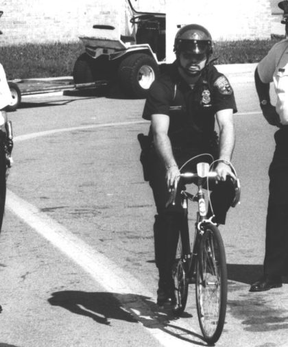 Officer Jim Wideman on a Bicycle