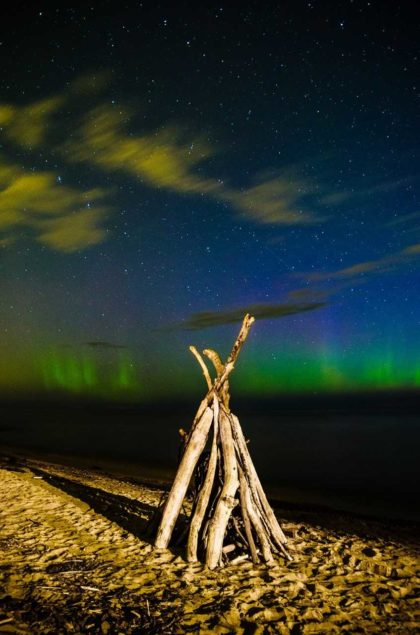 "2015 Glimpses of Greece 2nd Place Adult – ""Aurora at Beattie Beach"""