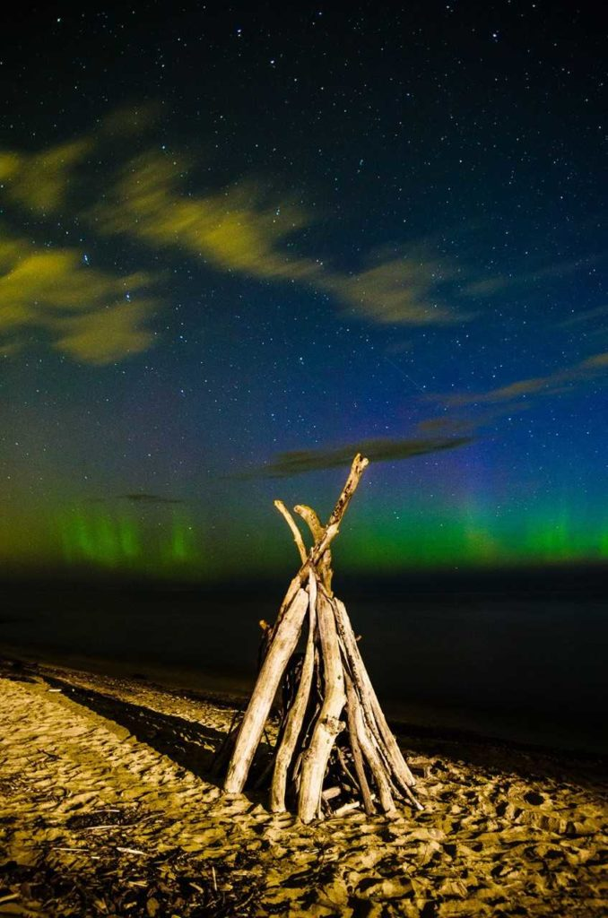 """2015 Glimpses of Greece 2nd Place Adult – """"Aurora at Beattie Beach"""""""