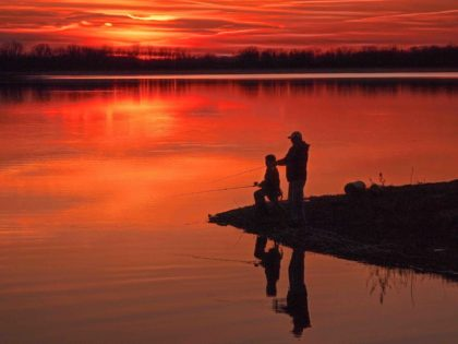 "2015 Glimpses of Greece People's Choice Adult – ""Gone Fishin' on Buck Pond"""