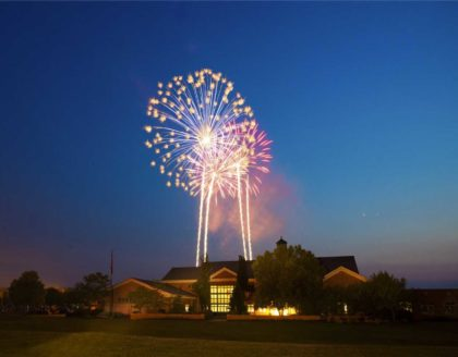 "2015 Glimpses of Greece Hometown Winner Adult – ""Fireworks Over Town Hall"""