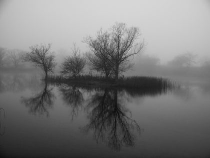 "2016 Glimpses of Greece Honorable Mention – ""Misty Island Pond at 390"""