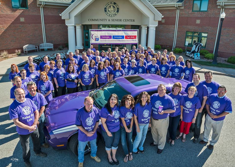 Town of Greece Employees Posing for Relay for Life Event