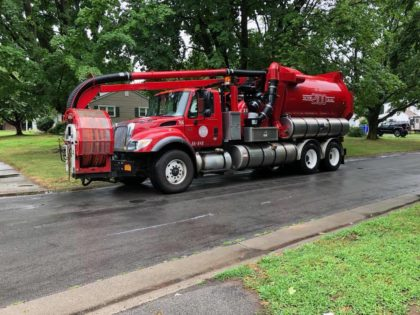 Department of Public Works Sewer Cleaning Truck