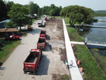 Paving Parking Lot at Braddock Bay Marina