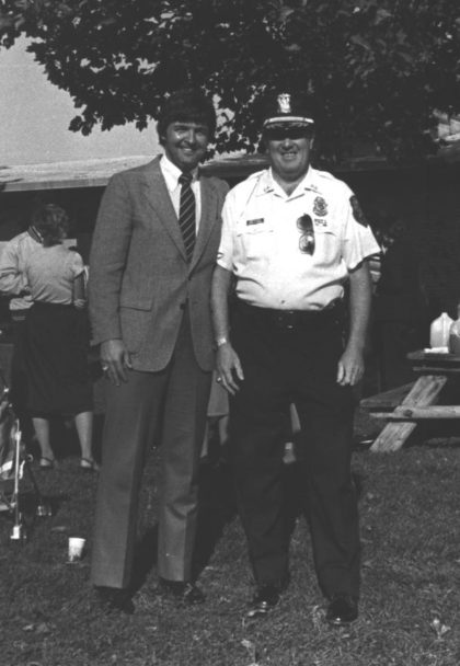 Greece Town Supervisor Don Riley and Greece Police Chief Gerald Phelan