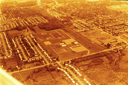 Aerial View of Greece Olympia High School Campus