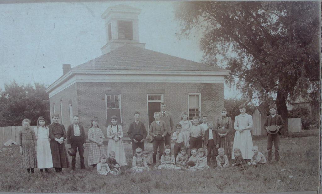 Original District #6 School on College Avenue