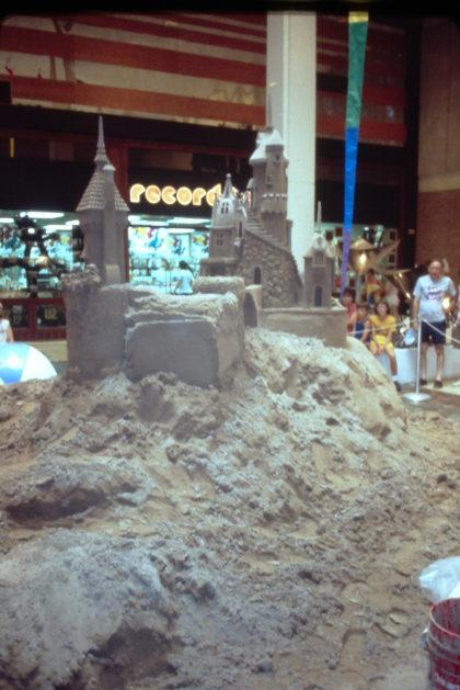"""On the Beach"" Sand Castle Creation at Long Ridge Mall"