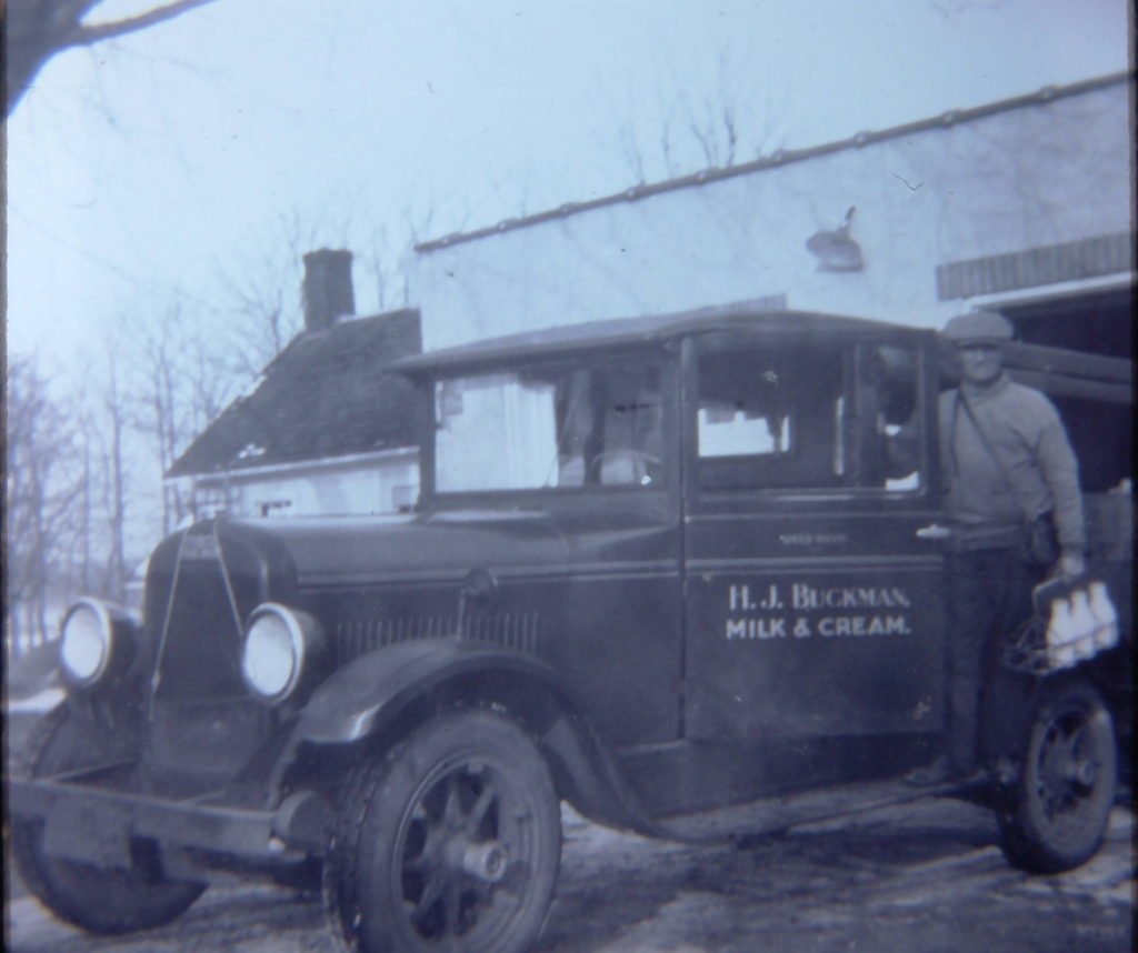 Buckman's Dairy Delivery Truck and Driver