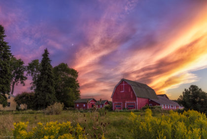 "2016 Glimpses of Greece Honorable Mention – ""Red Barn Sunset"""