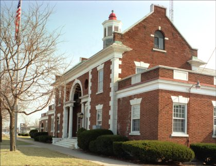 Old Greece Town Hall on Ridge Road