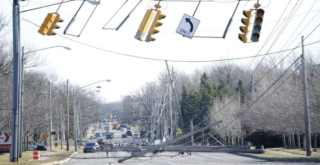 Wind Storm Damage on Long Pond Road