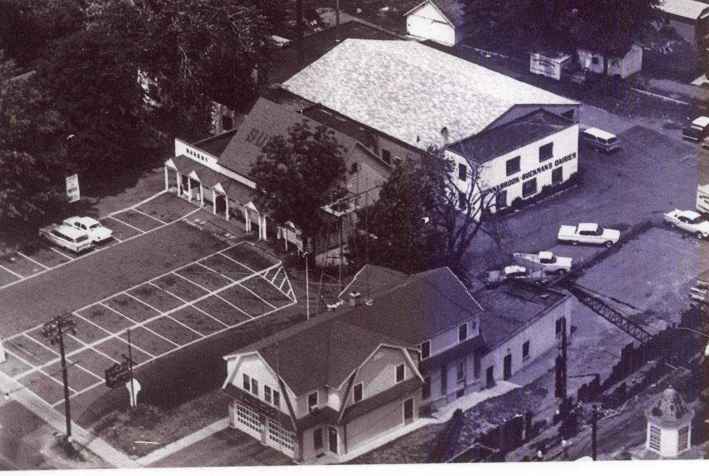 Aerial View of Buckman's Plaza, Dairy and Ridge Fire Department