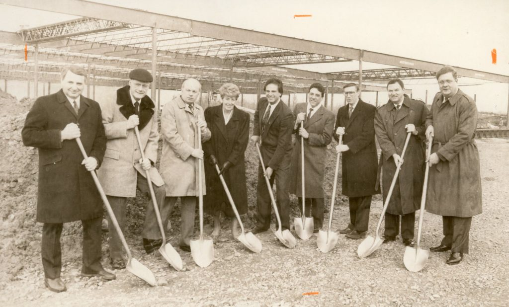 Supervisor Roger Boily and Others at Tops Market Groundbreaking Ceremony