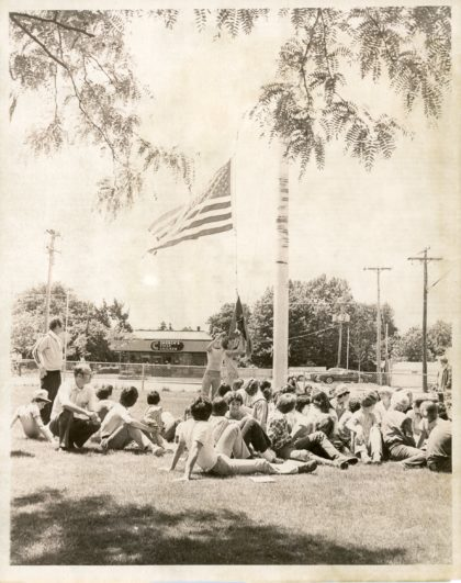 Lowering of Flag on Last Day of Britton Road Junior High School