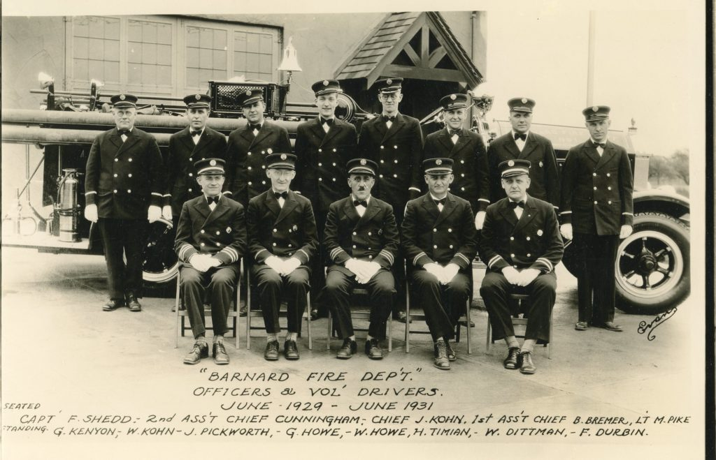 Barnard Fire Department Officers and Drivers