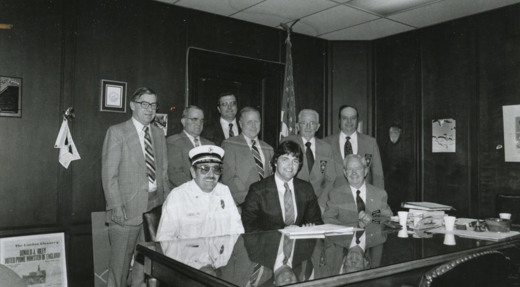 Town Supervisor Don J. Riley and Firemen