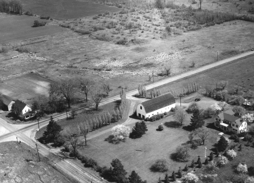 Aerial View of Larkin-Beattie-Howe House on Latta and Long Pond Roads