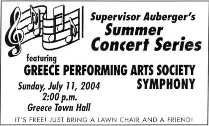 Promotional Card for Summer Concert Series Celebration