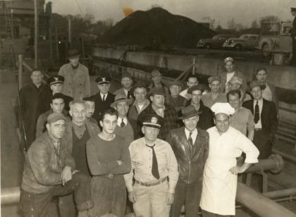 Charlotte Dockworkers and Military Inspectors at Genesee Harbor