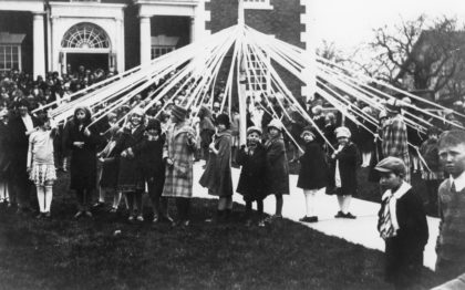 "Maypole Ceremony During ""Health Day"" Celebration"