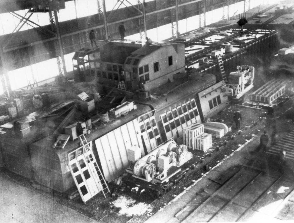 Work at the Odenbach Shipyard