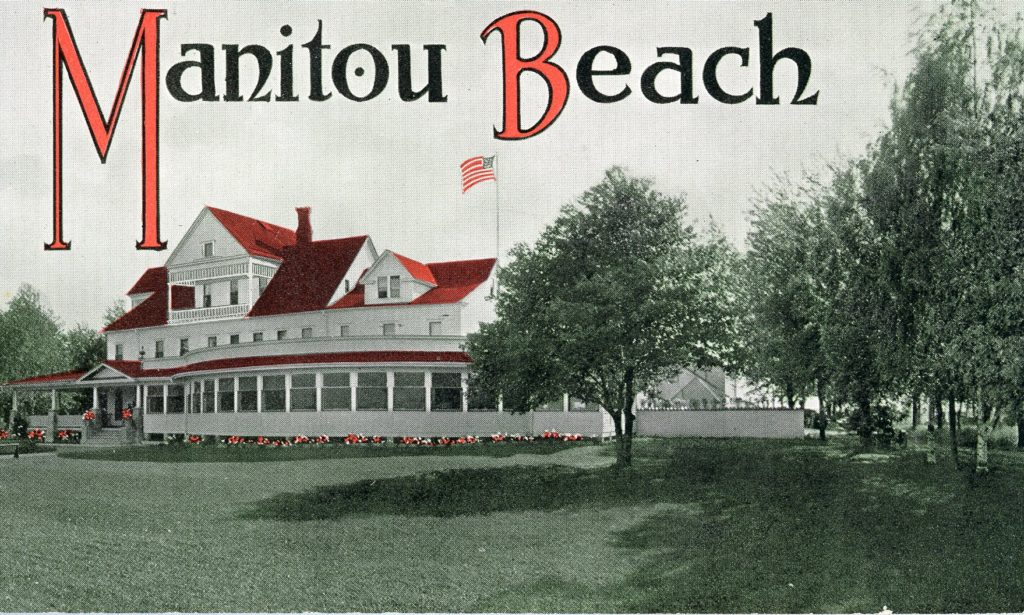 Cover of Promotional Booklet for the Manitou Beach Hotel