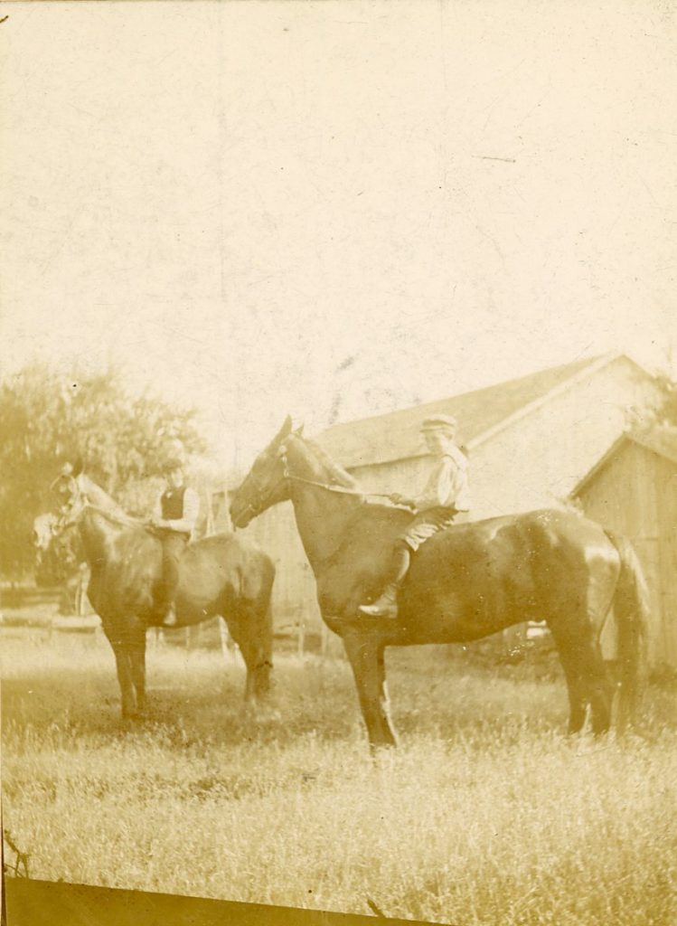 Harold and Milton Vaness on Vaness Farm
