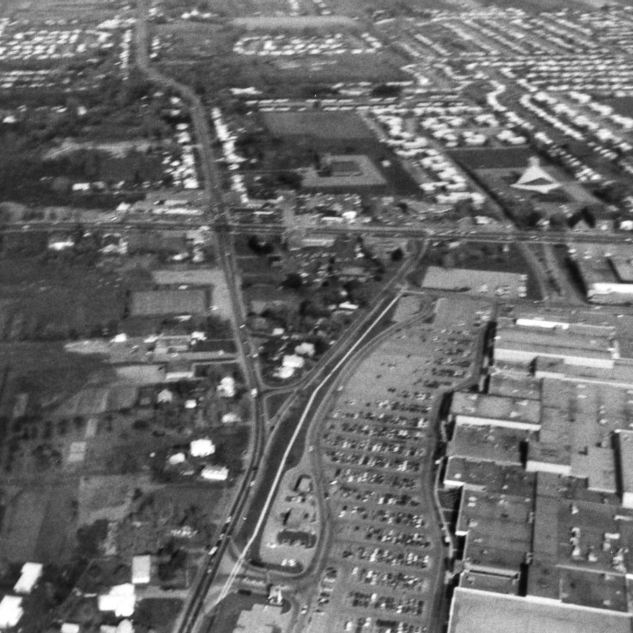 Aerial View of Long Pond and Mitchell Roads