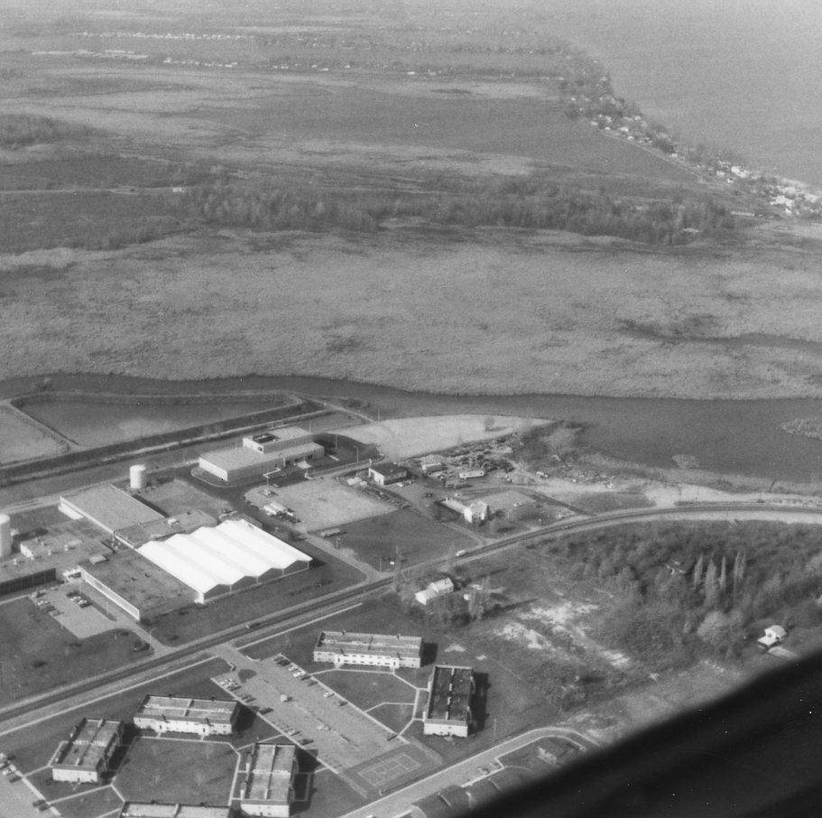 Aerial View of the Monroe County Water Authority on Dewey Avenue