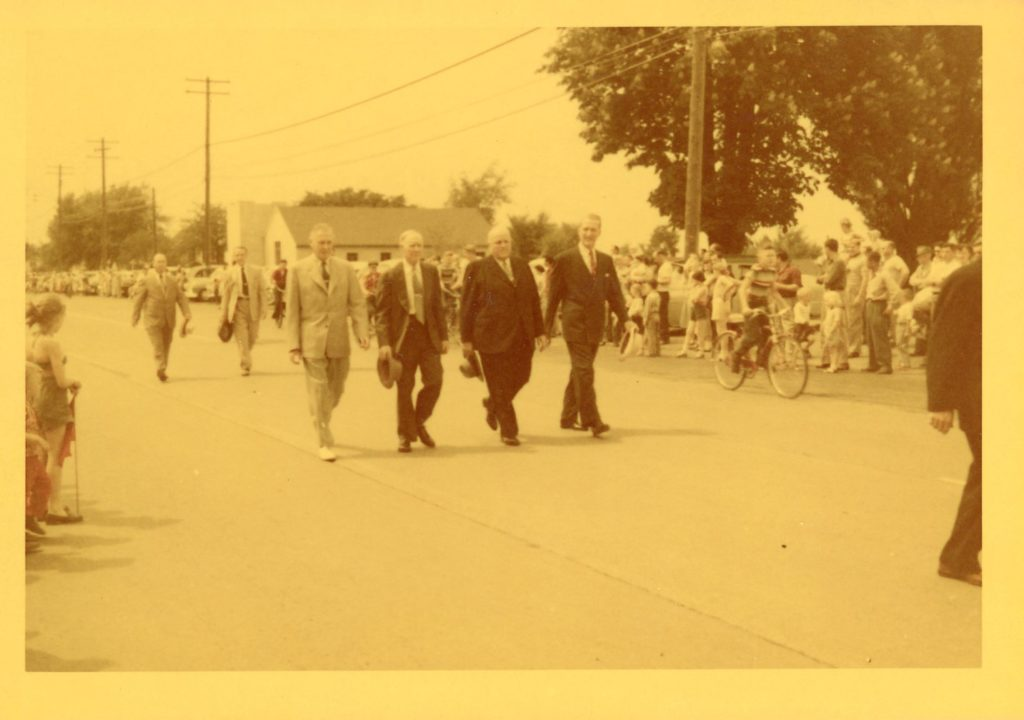 Al Skinner and Vince Tofany Marching in the Memorial Day Parade