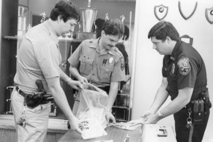 Greece Police Officers Cataloging Evidence