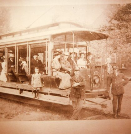 Passengers On the Manitou Trolley