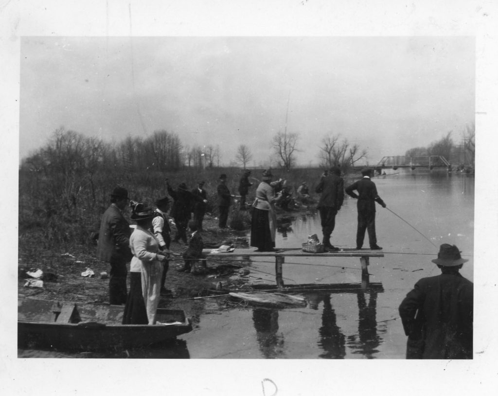 Fishing at the Long Pond Bridge