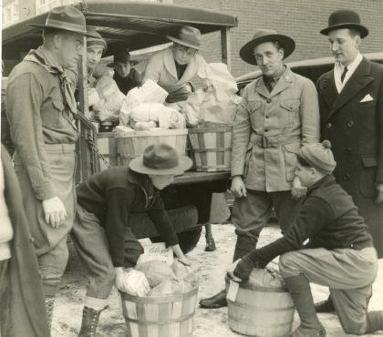 Greece Scouts Preparing Food Baskets