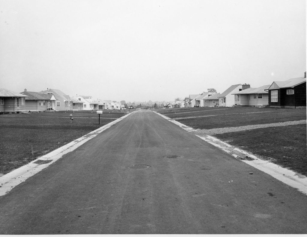 """View of Woodcroft Drive During Residential Development """"Boom"""""""