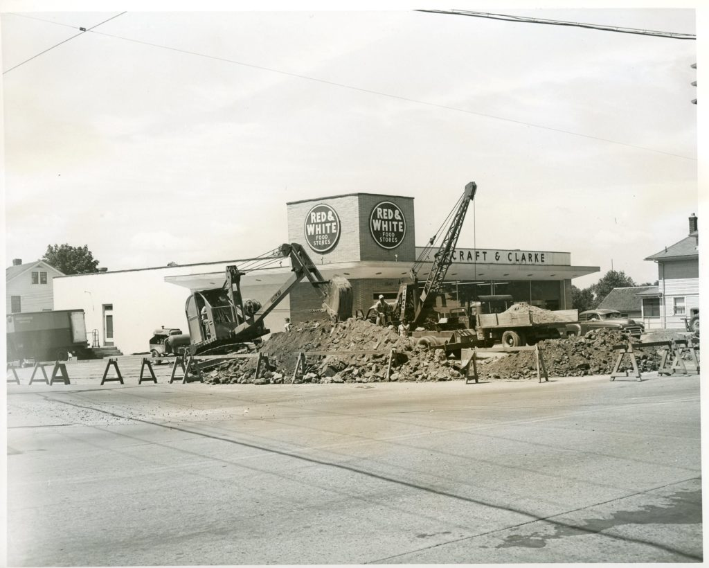 Red & White Food Stores Plaza Construction Ridge Road and Long Pond Road