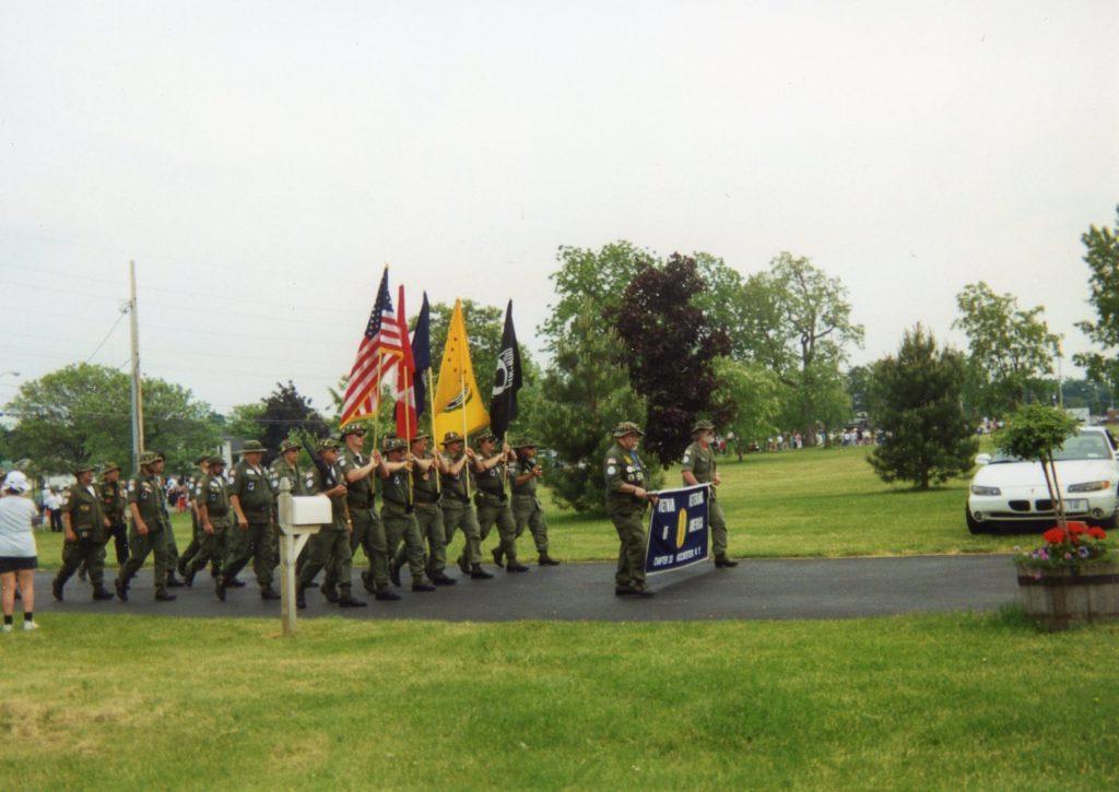 Vietnam Veterans Marching in Memorial Day Parade