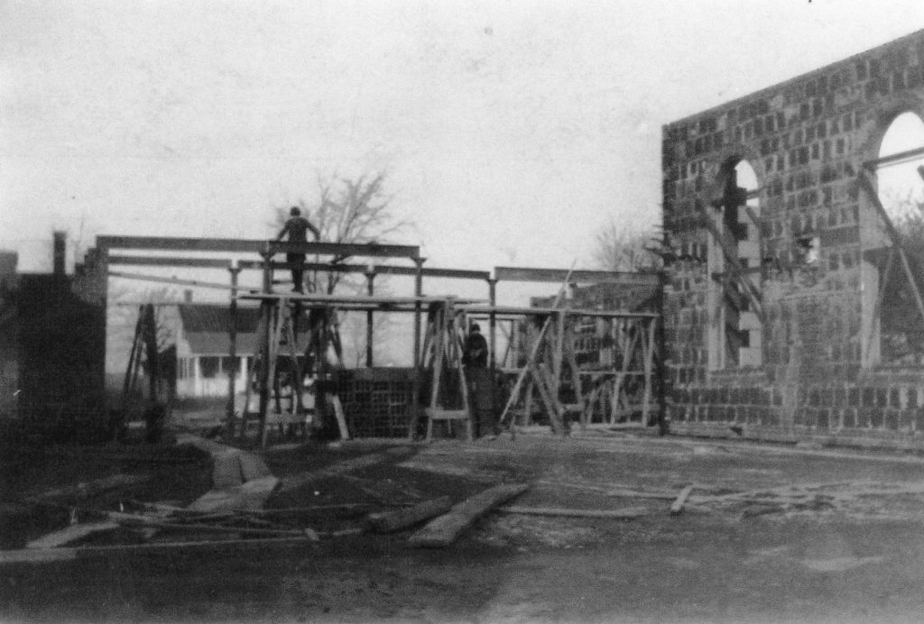 Construction of Old Greece Town Hall on Ridge Road