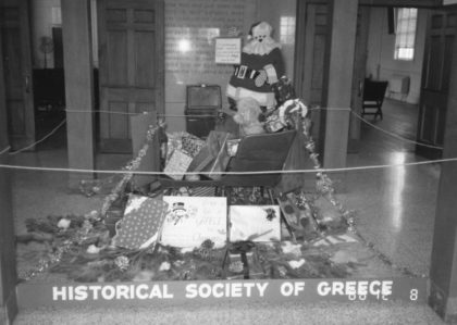 Greece Historical Society Town Hall Christmas Display