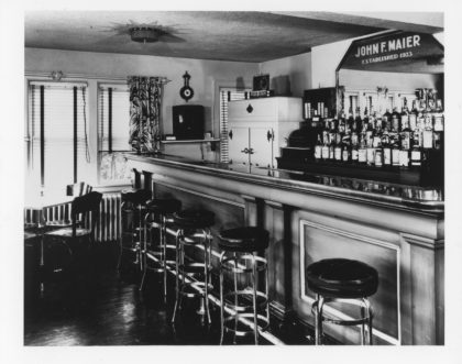 The Maier's Hotel Bar In the 1920's