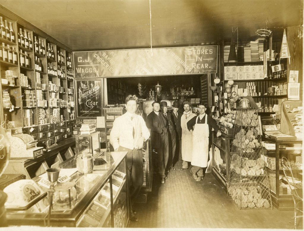 Inside of Wagg's Groceries & Provisions Store