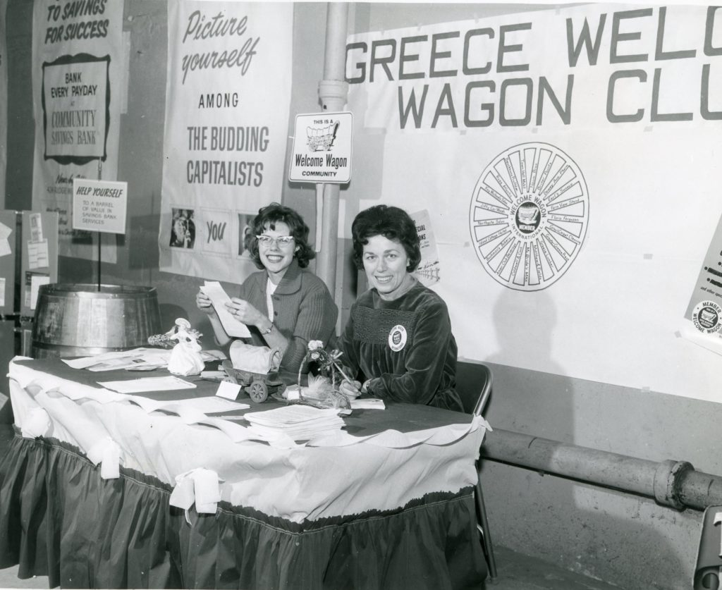 Greece Welcome Wagon Club Exposition Table