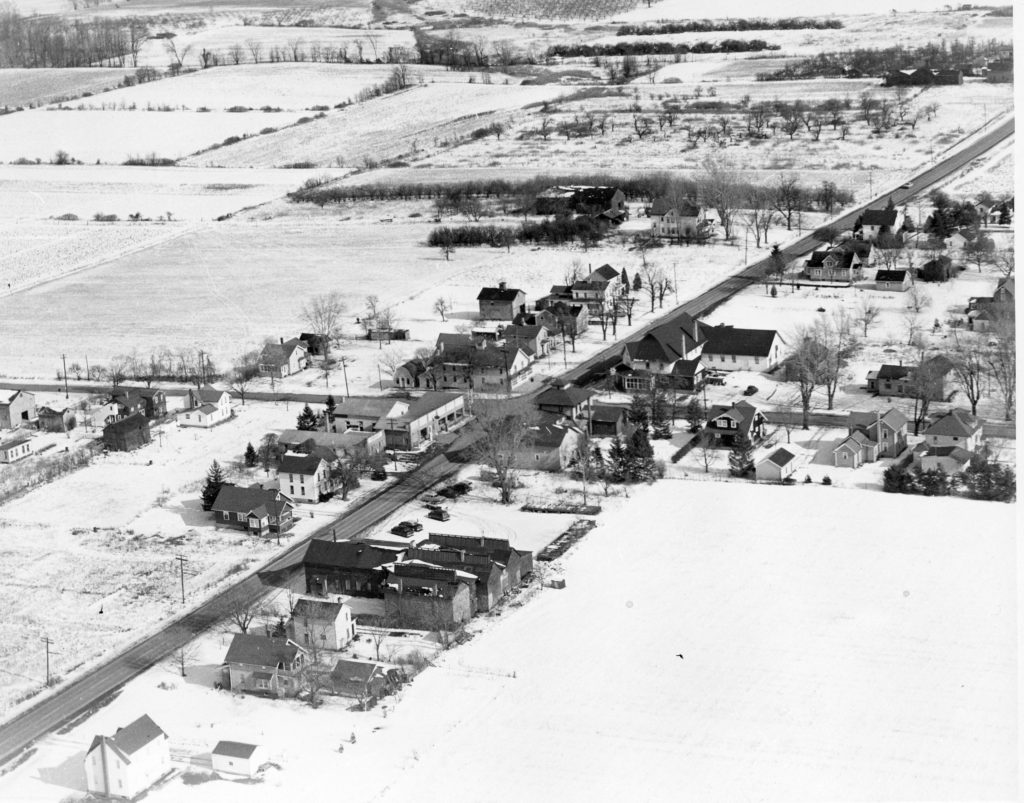 Aerial of Latta Road at North Greece Road