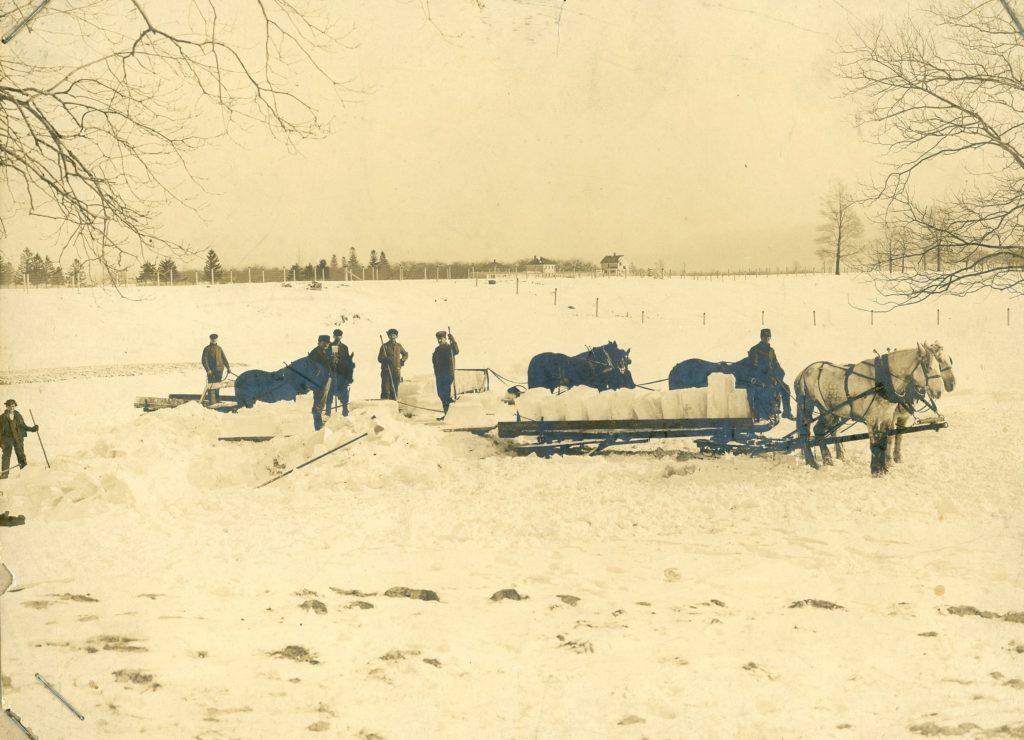 Harvesting Ice on the Yates Farm