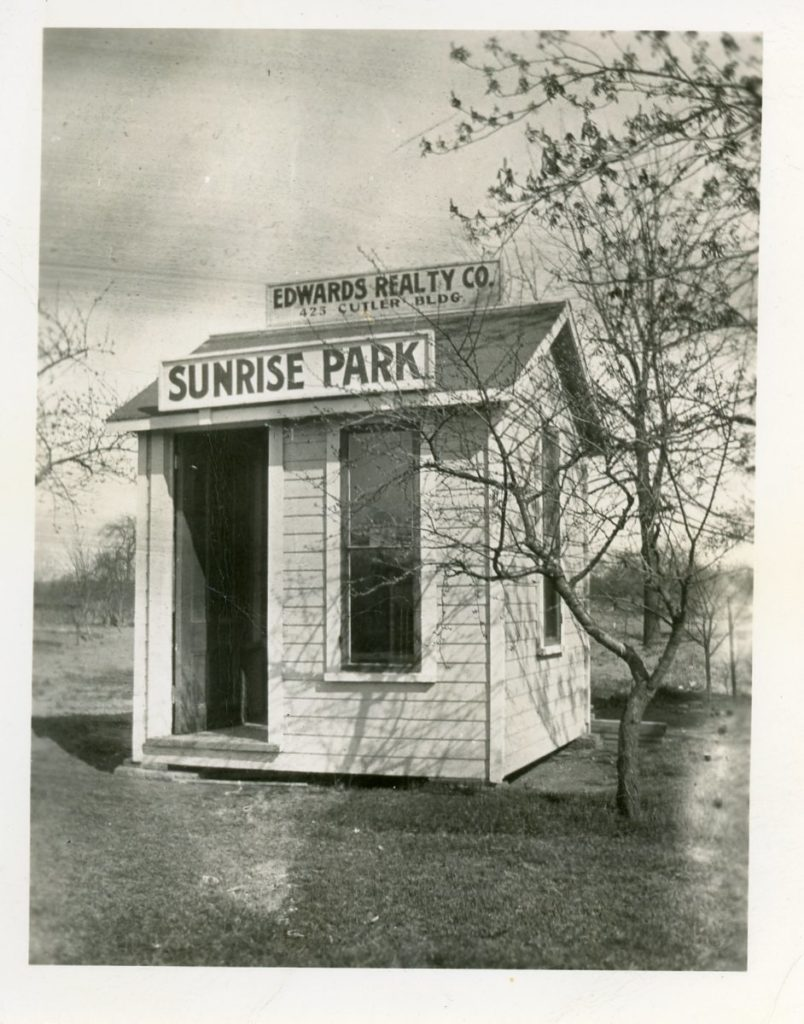 Sunrise Park Subdivision Sales Office at Dewey Avenue and Stone Road
