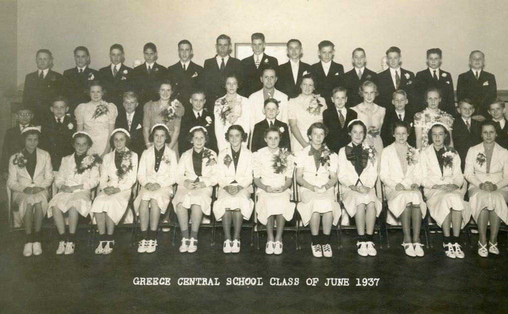 Greece Central School Graduating Class of 1937